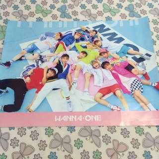 WANNA ONE OFFICIAL TBO PINK POSTER