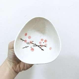 🚚 Pink Mini Sakura Cherry Blossom Saucer Bowl