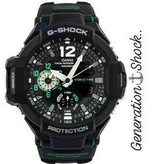 BEST🌟SELLING GSHOCK DIVER SPORTS WATCH : 1-YEAR OFFICIAL WARRANTY : 100% ORIGINAL AUTHENTIC G-SHOCK GRAVITY-MASTER SKY AVIATOR ABSOLUTELY TOUGHNESS : Best Gift For Most Rough Users : GA-1100-1A3DR / GA-1000 / GA1100 / GA1000 / GA-1100-1A3 / GSHOCK