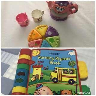 Take Both - Leap Frog Tea Set / Vtech Nursery Rhymes Book