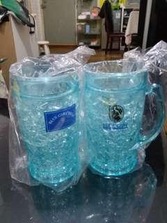 全新 藍妹冰杯1對  (買又得 交換都得)