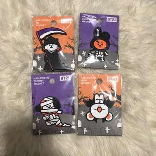 BT21 Halloween Magnets