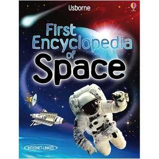🚚 (BN) Usborne: First Encyclopedia of Space