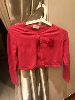 Zara girl's pink cardigan
