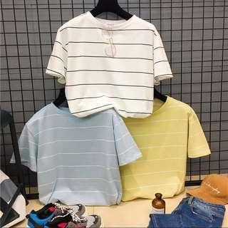 🚚 #003 striped tops ( blue / white / yellow )