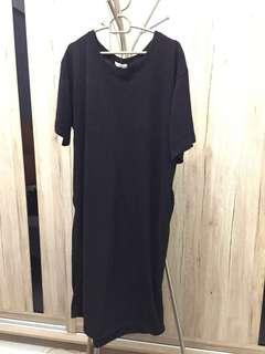 Black Long Dress - Free Size (stretchable)