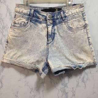 Factorie Acid wash shorts