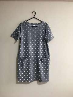 Bossini Grey Polka Dot Shift Dress