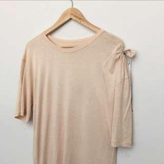 🚚 Martin Maison Margiela mm6 peach t shirt dress