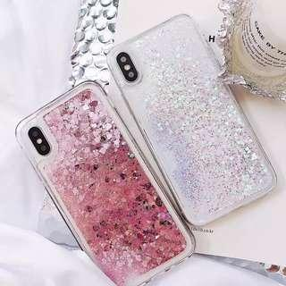 Pink Glitter case for iPhone X