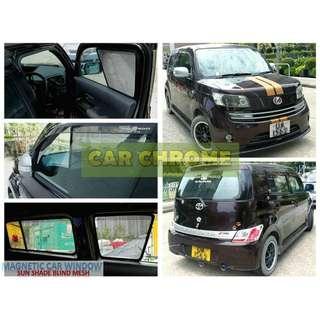 豐田 TOYOTA bB Qnc2# (2006/01 - ) 專用全車磁石版本窗網 一套5件: 包括: 前窗 x 2、中門 x 2、尾門窗 x 1 (MAGNETIC CAR WINDOW SUN SHADE BLIND MESH)