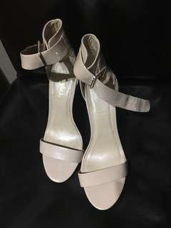 Nude ankle strap size 7