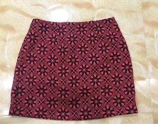 Forever 21 Coral Patterned Skirt