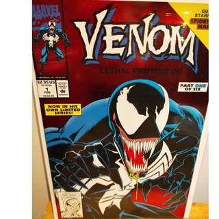 Venom: Lethal Protector #1 - Red Foil cover Hot Movie w/ Spiderman Direct Ed.