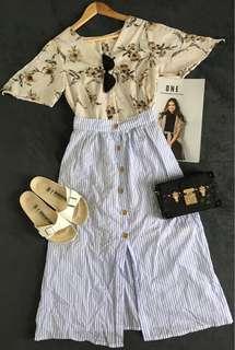 Stripes Boho Skirt
