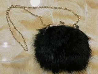 Guess Faux Fur Crossbody purse