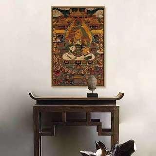 西藏唐卡-八方財神