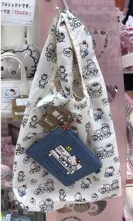 🇯🇵日本限定版🇯🇵Hello Kitty 環保袋 ( 牛仔布外袋)