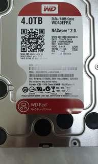 4TB Western Digital Red Nas Harddissk