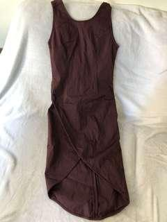 Una Rosa dress with slit size1 (xs) Magenta