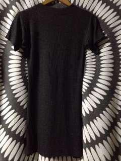 Gray body fit dress