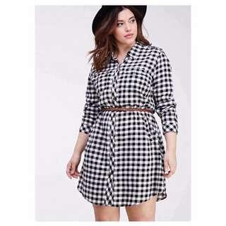 Checkered Plus Size Dress - COD