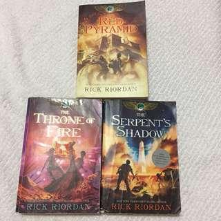 Kane Chronicles Complete Set