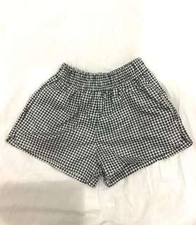 Houndstooth Elastic Shorts