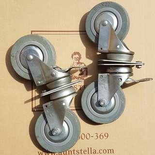 🚚 😀拖板車輪子(2對4個)