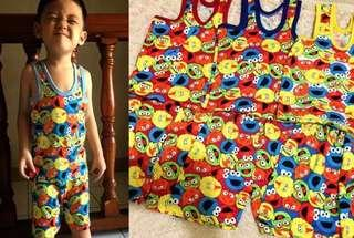 2 to 4 yrs old Sesame street sando shirts terno sets