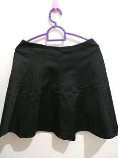 Logo Black Flare Skirt