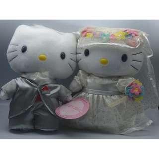 "Hello Kitty Romanic Wedding 8"" 對裝毛公仔"