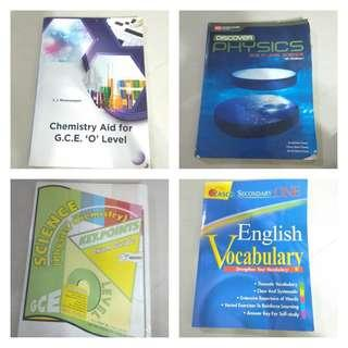 SALE!  O Level Books: Combined Sci and English