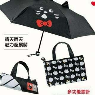 🚚 超展開晴雨傘 防水收納袋 屈臣氏 Hello Kitty x NYA聯名款