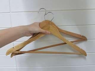 Ikea wooden hangers x 2pcs
