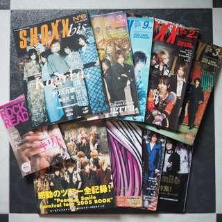 Kagrra 封面雜誌 10本Set Shoxx Arena37c Zy Cure RockRead V系