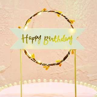 INSTOCK BN Happy Birthday Light Up Cake Topper Decoration