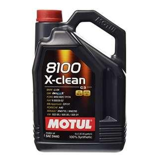 CLEARANCE Motul X-Clean 8100 5W-40 5L