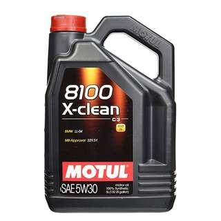 CLEARANCE Motul X-Clean 8100 5W-30 Fully Synthetic Engine Oil - 5L