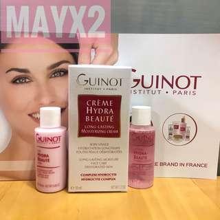 Guinot Long-Lasting moisturizing Cream 50ml + Cleaning milk 30ml + Toning lotion 30ml