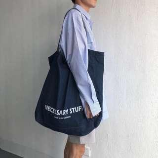Sold out ### Big Tote Bag Navy Blue Design. Go plastic free, save the earth!