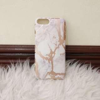iPhone 7/8 Plus Rose Gold Marble Case