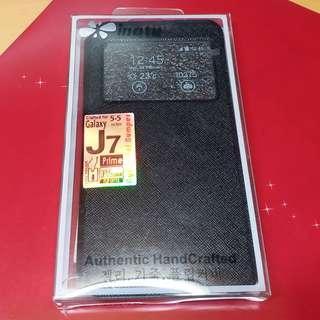 Samsung J7 Prime 黑色保護皮套