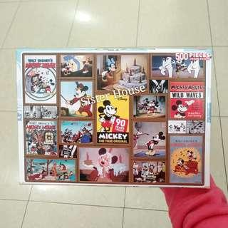 🇰🇷Disney Mickey Mouse Minnie Mouse Puzzle 500pcs 廸士尼米奇老鼠米妮老鼠砌500塊