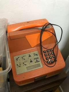 1960 Public phone (orange colour)