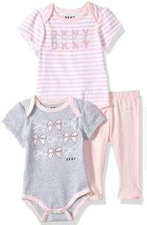 🚚 *6M & 12M* BN DKNY 3 Piece Set For Baby Girl