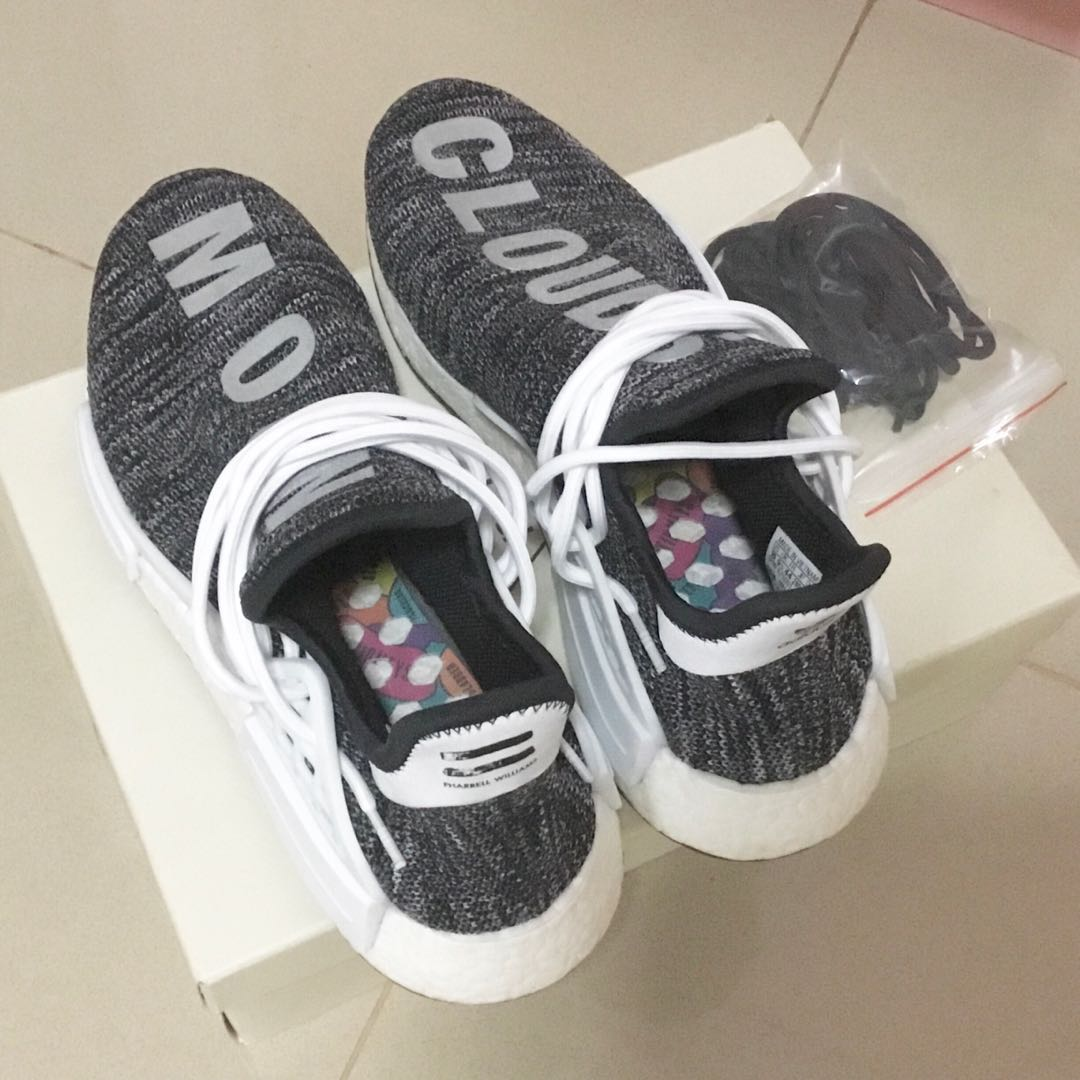 d961980f3 ADIDAS PHARRELL HUMAN RACE HU NMD TRAIL OREA BLACK WHITE GREY US 10 ...