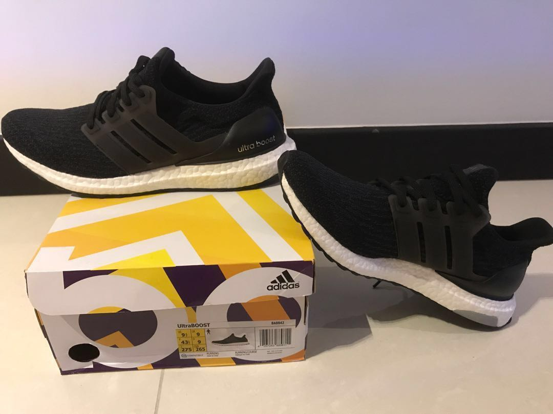 dcb612fe7 Adidas Ultra Boost 3.0 Core Black