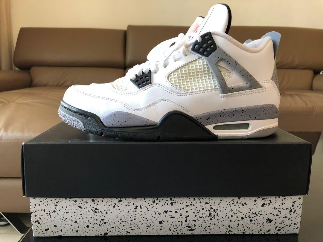 388ef46d8553 Air Jordan 4 RETRO white black-cement gray