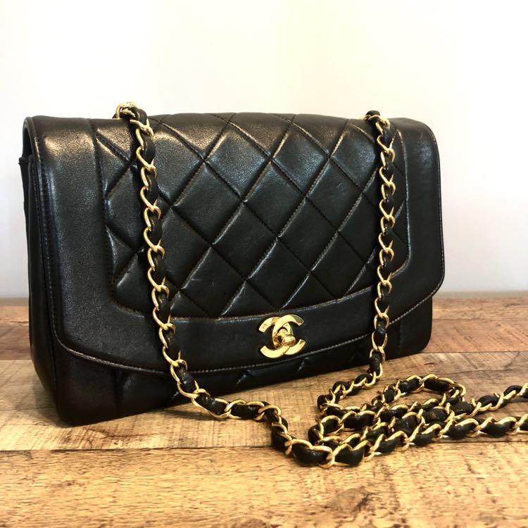 556cc6c3c20fef Authentic Chanel 10 Inch Diana Flap with 24k Gold Hardware, Luxury ...